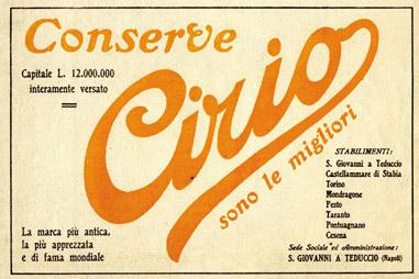 La prima pubblicità Cirio